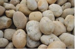 天然黄色5-8cm鹅卵石